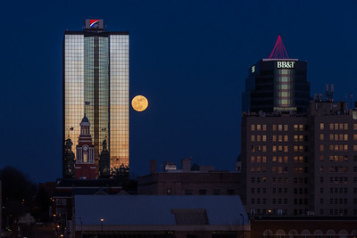 Full Moon downtown Knoxville