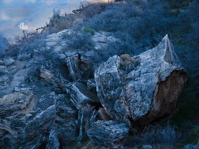 Fallen rocks at Montezuma's Well, Arizona.