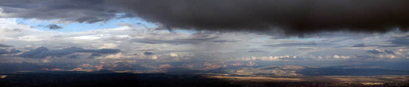 A view over the Verde Valley during a winter storm from Jerome, Arizona
