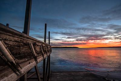 Clinton Lake winter shore #3