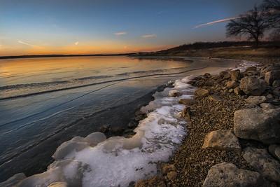 Clinton Lake winter shore