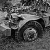 Wrecked Logging truck, Cowlitz County, Oregon, 1995  Kodak TMX.