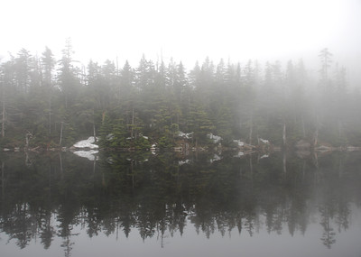 Sterling Pond in Fog 3, Long Trail, near Stowe, Vermont