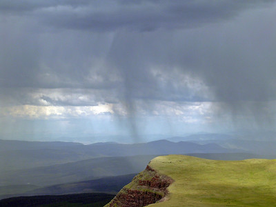 Rain from Flat Top Mountain, Colorado, 2003