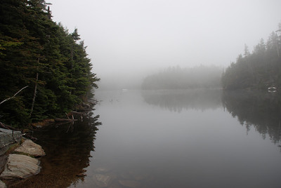 Sterling Pond in Fog, Long Trail, near Stowe, Vermont