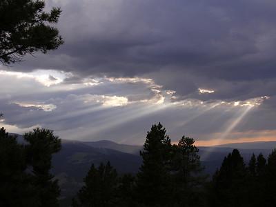 Sun Rays,  Vail Mountain, CO.