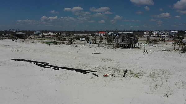 2019 Mexico Beach Hurricane Recovery - Drone 008A - Deremer Studios LLC