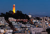 Giants win the 2012 World Series! In celebration Coit Tower is lit up orange for a night.