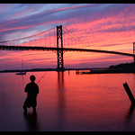 Mount Hope Bridge at Sunset