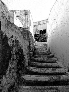 A sketch interpretation of the steps in Pyrgos village.