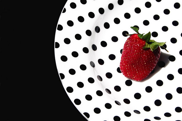 Strawberry on Plate - right