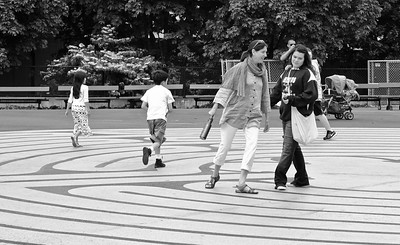 Walking the maze, Seattle, Washington, 2011.