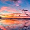 Crystal Pier Sunset Panoramic