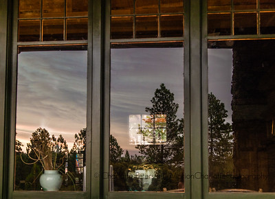 Smoky Sunset Reflection at the Historic North Star House, Grass Valley-1