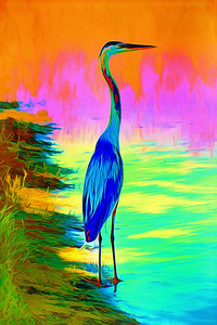 Blue Heron on Mars