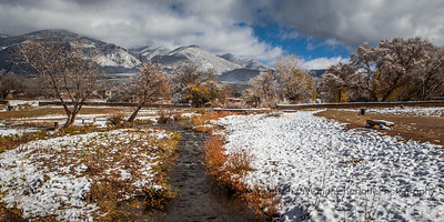 Taos Pueblo after a fall snow storm