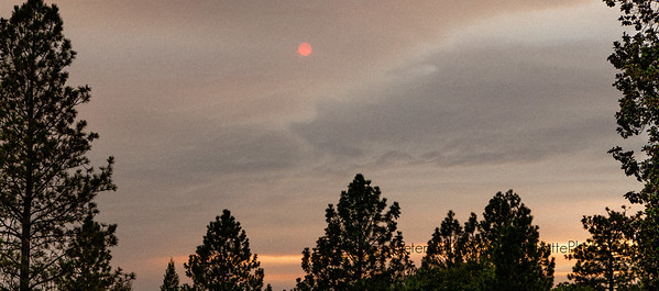 Smoky Sun at the Historic North Star House, Grass Valley