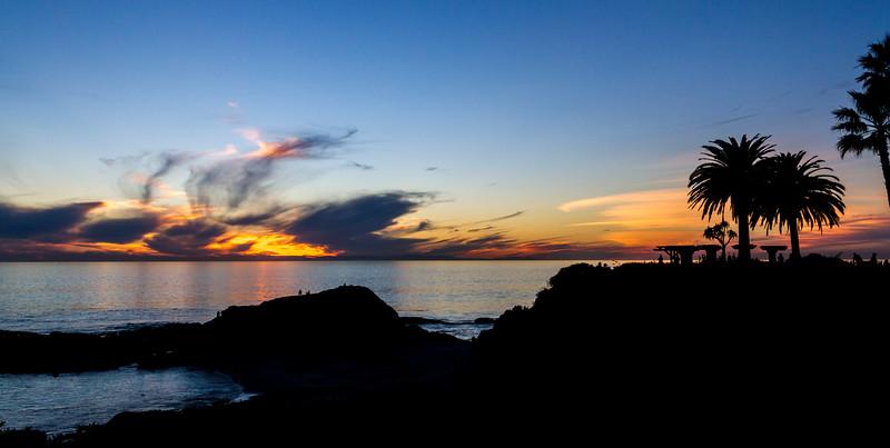 Laguna Sunset & Palm tree shadows ©2014 MelissaFaithKnight&FaithPhotographyNV -3902
