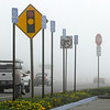 Huntington Beach Signs Traffic and Fog ©2014 MelissaFaithKnight&FaithPhotographyNV -2014