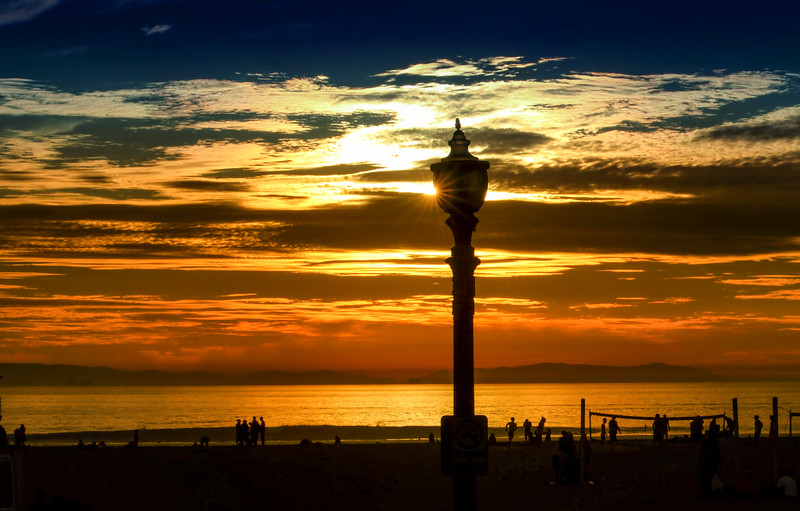 Huntington Beach Sunset & Shadow Play  ©2014 MelissaFaithKnight&FaithPhotographyNV -