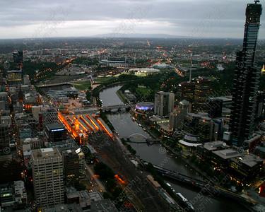 2310-Downtown Melbourne, Australia at dusk (8x10)