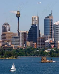 2090-The harbor and skyline of Sydney, Australia (8x10)