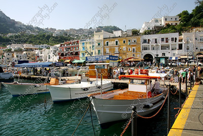 NEW! 2054-Boats docked at Capri Island, Italy (8x12)