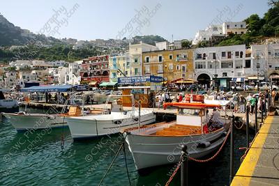 NEW! 2054-Boats docked at Capri Island, Italy (8x12)