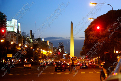 2008-The Obelisk in Buenos Aires, Argentina (8x12)