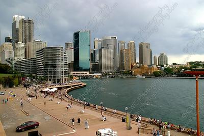2190-The skyline and harbor at Sydney, Australia (8x12)