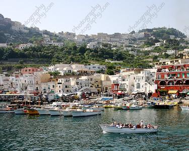NEW! 2102-The main marina at Capri Island, Italy (8x10)