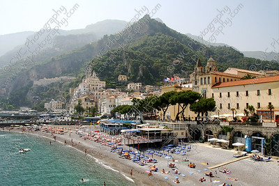 NEW! 2047-The beach of Amalfi, Italy (8x12)