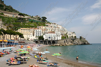 2028-The beach at Amalfi, Italy (8x12)