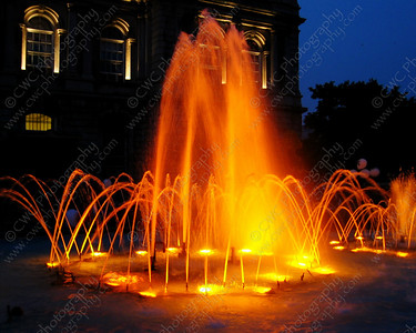 2030-Bright orange water fountain in Montreal (8x10)