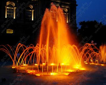 2030-Bright orange water fountain in Montreal (8x10)