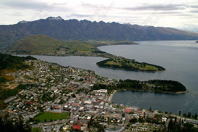 2210-View from above in Queenstown, New Zealand (8x12)