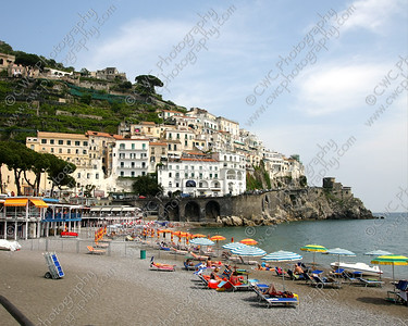 NEW! 2075-The beach at Amalfi, Italy (8x10)