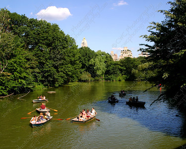 NEW! 6074-Rowboating on a summer day in Central Park (8x10)