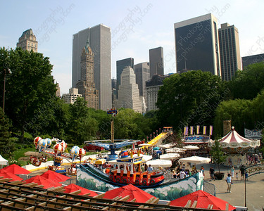 NEW! 6044-A colorful summer fair in Central Park  (8x10)