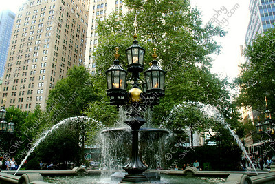 4070-A water fountain in City Hall Park (8x12)