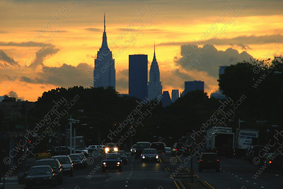 NEW! 3022-Manhattan skyline during sunset (8x12)