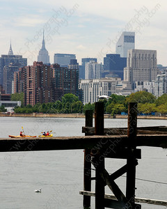3130-Kayaks in the East River in New York City (8x10)