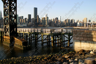 3110-Manhattan across the East River in New York City (8x12)