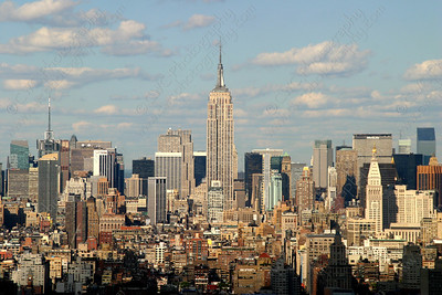 NEW! 3065-The Empire State Building and the Manhattan skyline (8x12)