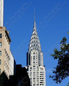3190-Chrysler Building in New York City on a sunny day (8x10)