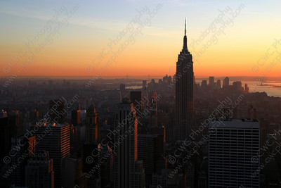 3120-The Empire State Building during a sunset in New York City (8x12)