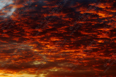5030-Red clouds during a sunset (8x12)