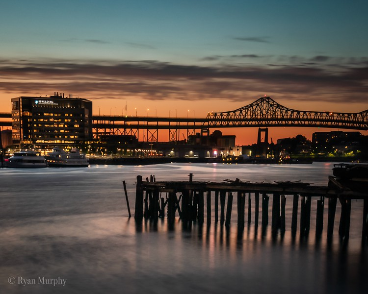 Tobin Bridge, Massachusetts.