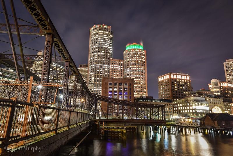 Boston in the Evening.