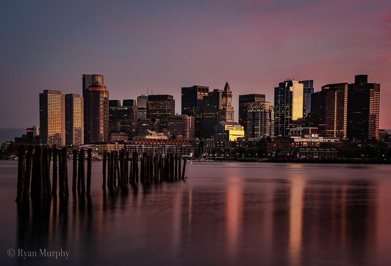 Boston Skyline from East Boston.